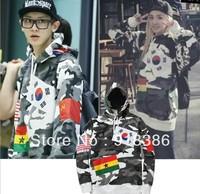 2013 Brand Korean style  New Womens / Mens Letter Flag print Fashion  hoodies / sweatshirts / hoody for lovers  Freeshipping