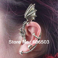 [Minimum Order is 10USD] (mixed Order) J206 European and American Style Goth Punk personality retro dragon earrings