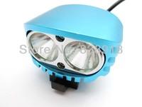 2x Cree XM-L XML U2 LED 4000 Lumens Blue 4 Mode Bicycle Light Cycle Bike Lamp HeadLamp Headlight Flashlight Full Set