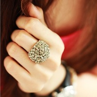 46214 New fashion full rhinestone finger rings gifts women high quality jewelry wholesale free shipping