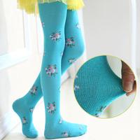 Female child pantyhose autumn and winter child pantyhose student socks dance socks 100% cotton socks plus crotch