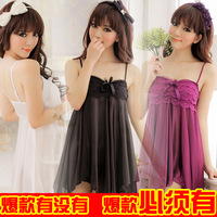 Sexy sleepwear transparent set milk temptation open-crotch tube top underwear perspectivity short skirt princess clothes