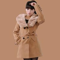 Women's autumn and winter woolen clothes trend women's outerwear girls top