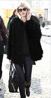 2013 winter fashion faux women's coat velvet fur coat plus size coat women's