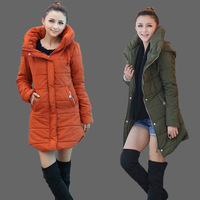 Women's autumn and winter thickening cotton clothes women's outerwear Women outergarment