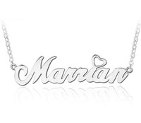 Trendy Gifts 18K Gold Plated 925 Sterling Silver Customized Name Pendent Necklace Christmas Personalized Jewlry