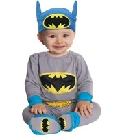 Baby Boy Romper Batman Long Sleeve Clothing Set Infant Cartoon Halloween Christmas Costume Baby Romper with Hat Autumn Free Ship
