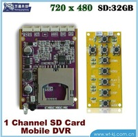 1-ch HD DVR moudle, support for video, photo function