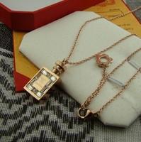 Rose gold necklace no . 5 women's perfume bottle pendant chain