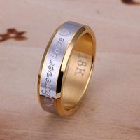 Romantic Forever Love Ring 925 Silver Stainless Steel Golden Rings for Men Valentine's Gift Couple Rings Mens Jewelry R095
