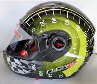 LS2FF370 dual lens mortgage motorcycle helmet visor helmet riding helmet sports full black / yellow speed