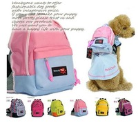 Beauty . paw pet backpack punk cool canvas backpack dog school bag pet dog backpack
