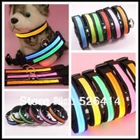 DHL UPS 100pcs/lot flashing LED dog collar, led pet collar