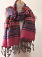 Blue fashion all-match tassel muffler scarf cape scarf winter women's