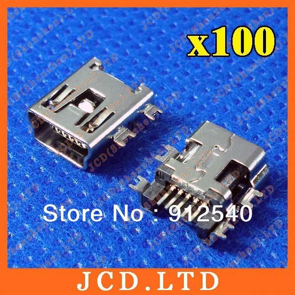 100pcs/lot new MP3 MP4 socket mini USB 5P data interface broken plate USB female Shen board(China (Mainland))