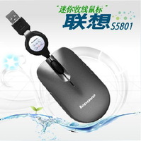 Genuine Lenovo S5801 Mini Retractable Wired laptop notebook mouse Free shipping