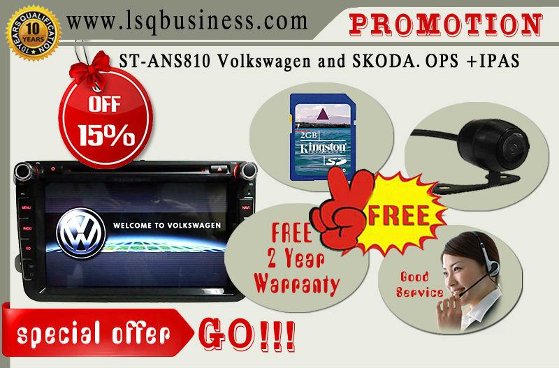 lsqstar car audio for VW polo/jetta/golf 5 with GPS/Radio/ipod/bt/TV/IPAS/ OPS/ door status 3G/usb/port /6 virtual disc..(China (Mainland))