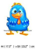 Creative !!! 50pcs/lots , wholesales Galinha pintadinha mylar balloon , Chicken cartoon balloon bauble