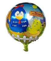 Discount, 50pcs/lots wholesales 18 inch round shape Galinha pintadinha foil balloon , cartoon balloon ,45X45cm bauble