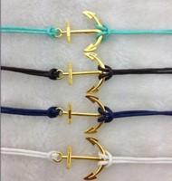 4pcs Pretty retro gold 3d anchor  hand chain bracelet pendant jewelry punk style charm bracelet for  3015  mini order 10$