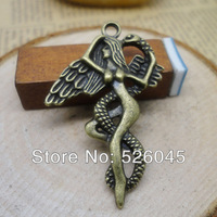 Wholesale 200pcs/lot  41*27mm snake and beauty copper pendant for bracelet/necklace DIY Jewelry Making accessories