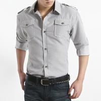 Male autumn long-sleeve shirt male long-sleeve shirt men's clothing fashion slim casual fashionable
