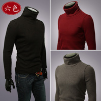 Uyuk all-match fashion basic sweater slim elegant male turtleneck sweater  winter sweaters men