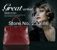 2013 Fashion Genuine Leather women's handbag High Quality shoulder bag Messenger bags Leather for lady free shipping&card holder