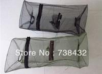 Wholesale 50*22*22CM  Zippered Entrance Spring Wire Frame Green Nylon Shrimp Trap Mesh Net
