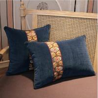 High quality navy blue velvet cushion cover 2 pcs/lot female fashion warm pillow case/luxury sofa cushion/zara women 2013