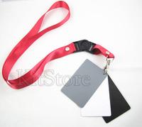 3in1 3 in 1 Digital Grey Card White Black 18% Gray Color White Balance Strap