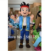 Jake the Neverland Pirate fancy adult size cartoon mascot costume EPE