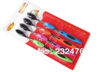 Free shipping 4pcs sets Korea Bamboo charcoal toothbrush wholesale the lowest factory price