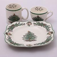 Christmas dinnerware set western dish set face plate spode ceramic