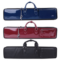 Bamboo fluters 7 leather bag anti-icer thickening waterproof quality leather bamboo flute bag c-11