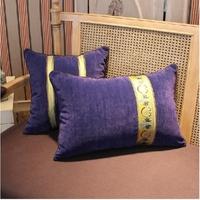 New arrival purple velvet pillow cover 2pcs/lot fashion cushion cover for sofa cushion decorate square pillows zara women 2013