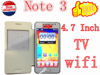 The best quality of 4.7 inch Note 3 n9000 mobile phone TV WIFI Dual Card Dual Camera Free Shipping