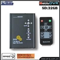 1-ch SD card 32GB HD D1 DVR household real MINI DVR Motion Detection