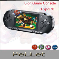 Wholesale 40PCS PXP-270 8 bit handheld game console with Pocket Game Player  Console portable with many classical ,free shipping