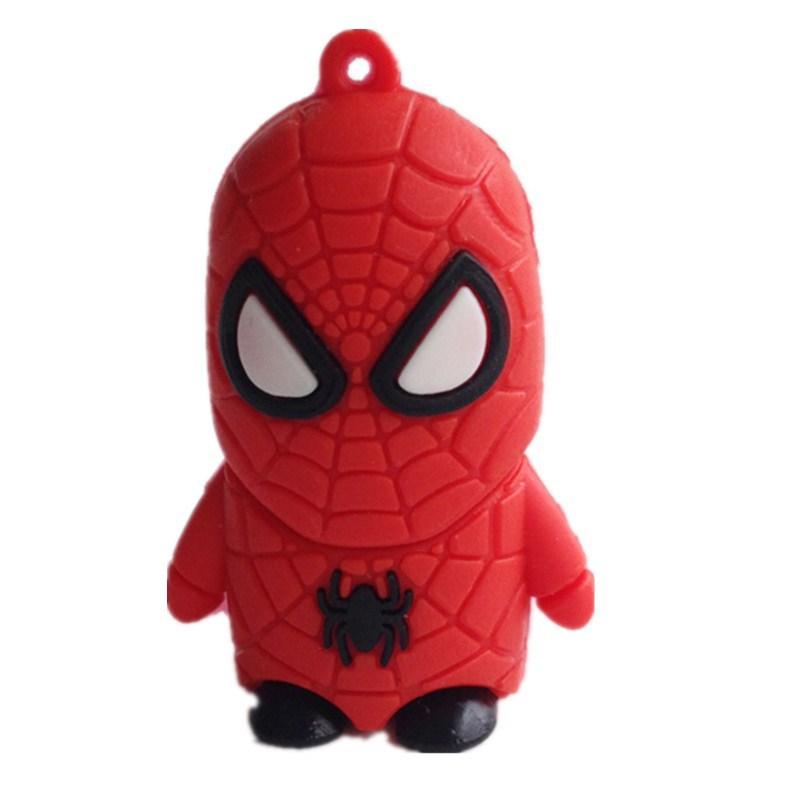 U disk flash memory spiderman pen drive 8gb 16gb 32gb 64gb 128gb 256gb pen drive gifts Spider man pendrive usb flash drive(China (Mainland))
