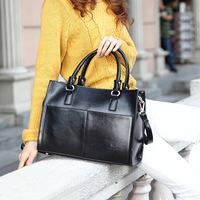 2013 women messenger  bag oil skin handbag  genuine women leather bags shoulder bag female totes