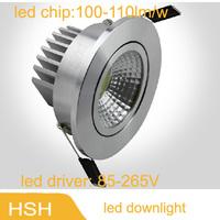 New designer 3w 5w 7w 10w 15w 20w led cob recessed downlight lamps Heatsink 85-265V down lights for home 1pcs/lot