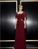 free shipping maxi 2014 new design vestidos de festa formal gown red long chiffon dress plus size party evening elegant dresses