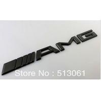 5pcs Black AMG Car Emblems Car Logo Badges