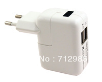 EU 2 Ports Dual USB Ports European Wall Plug Charger Adapter Dual USB 3100 mAh FOR  iPad 2, 3, 4, Mini, Air For iPhone 5