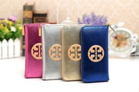 2015 brand famous designer 100% real genuine leather women wallets clutches female card holder high quality purse wholesale bags