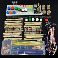 generic parts package For Arduino kit + 3.3V/5V power module+MB-102 830 points Breadboard +65 Flexible cables+ jumper wire box