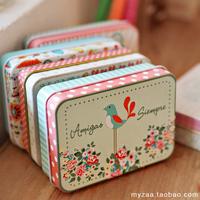 (5 pieces/lot) tin sheet small storage box Creative card candy jewelry box girls gift