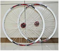 Free EMS Shipping QUARRY X6 Aluminum Alloy MTB Wheels/Two Bearings Wheelset/Only Disc Brake/26er/Suitable for 9/10 Speed/White