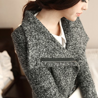 2013 New Fashion autumn winter women coat small woolen overcoat winter slim long woolen outerwear jacket